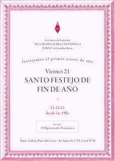 Flyer santo festejo de fin de año