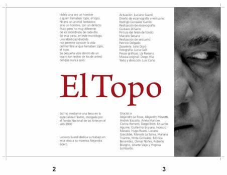 Prensa Obra El Topo - Luis Cano